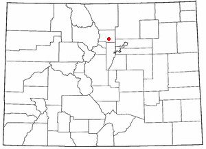 Location of Boulder, Colorado