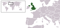 Location of the United Kingdom