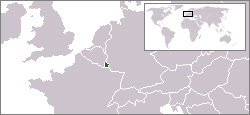 Location of Luxembourg