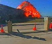 Security camera image of the moment that  hit the Pentagon