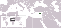 Location of Cyprus