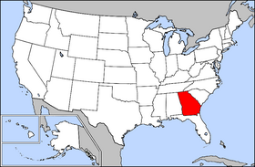 Map of the U.S. with Georgia highlighted