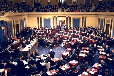 The impeachment trial of President  in the Senate was presided over by Chief Justice .
