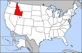 Map of the U.S. with Idaho highlighted