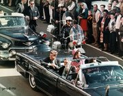 President Kennedy, Jackie, and Gov.  in the Presidential limousine shortly before the assassination.