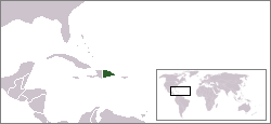 Location of the Dominican Republic