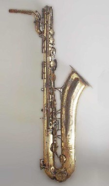 Saxophones of different sizes play in different registers.  This baritone saxophone, for example, can play lower notes than a tenor saxophone, and an  lower than an