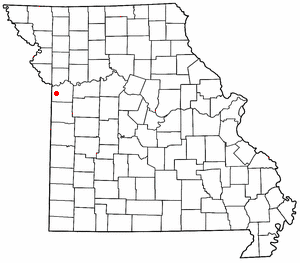 Location of Raytown, Missouri