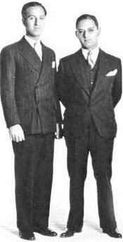 George (left) and Ira Gershwin