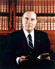 French President Fran�ois Mitterrand, an example of a head of state in a semi-presidential system