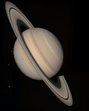 Saturn taken by Voyager 2
