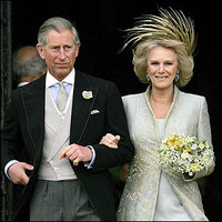 The Prince of Wales and the Duchess of Cornwall following their civil wedding in Windsor, England
