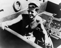 Jack on his navy patrol boat, .