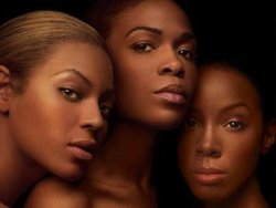 Destiny's Child featured on the cover of their latest album, Destiny Fulfilled. From left to right: , , and .