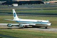 Pan Am operated its first transatlantic Boeing 707 flight in , inaugurating the Jet Age in the United States.