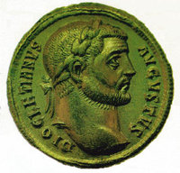 Emperor Diocletian on a period coin