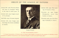 Origin of the League of Nations