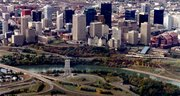 Downtown Edmonton from the air