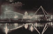 Extravagant displays of electric lights quickly became a feature of public events, as this picture from the 1897 Tennessee Centennial Exposition shows.