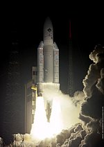 Ariane 5 lifts off with the Rosetta probe on 2nd of March, 2004.