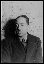 Langston Hughes, novelist and poet, photographed by , 1936