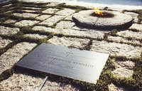 The grave of President Kennedy at .