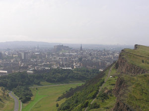 Edinburgh viewed from . See also this picture for a panoramic view from  towards .