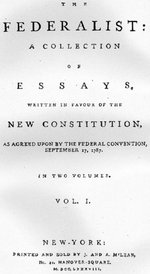 Title page of an early Federalist compilation.