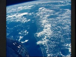 View of Cape Kennedy, Florida from Gemini 5 (NASA)