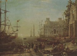 Seaport, a painting by ,