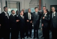 JFK in the  with various civil rights activists including