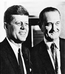 U.S. President Kennedy and Vice President Johnson.