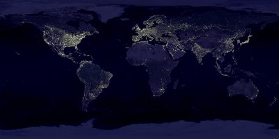 City lights from space. NASA. Credit-Marc Imhoff